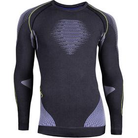 UYN M's Evolutyon Melange UW LS Shirt Anthracite Melange/Blue/Yellow Shiny
